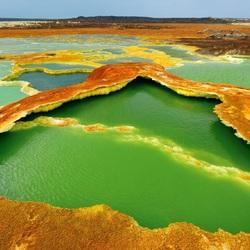 Пазл онлайн: Вулканический кратер