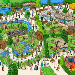 Пазл онлайн: Венский зоопарк