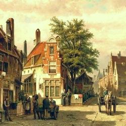 Пазл онлайн: Улица Амстердама летом