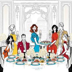 Пазл онлайн: Званый ужин