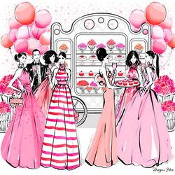 Пазл онлайн: Розовая вечеринка