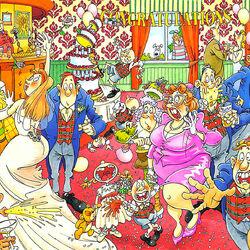 Пазл онлайн: Свадебный переполох