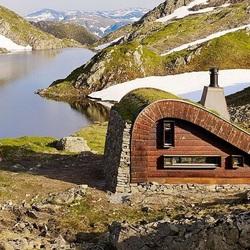 Пазл онлайн: В горах у озера