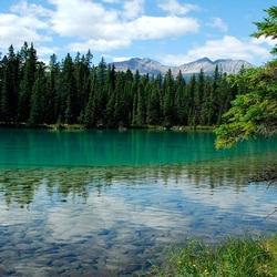 Пазл онлайн: Бирюзовое озеро