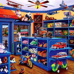 Пазл онлайн: Магазин игрушек Мэри Лии