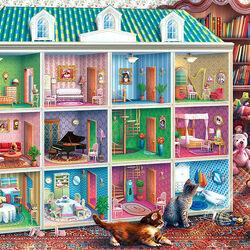 Пазл онлайн: Кукольный домик Софии