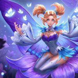 Пазл онлайн: Фиолетовая бабочка