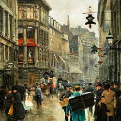 Пазл онлайн: Улица Копенгагена