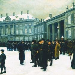 Пазл онлайн: Смена караула у дворца Амалиенборг