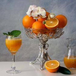 Пазл онлайн: Апельсиновый фреш