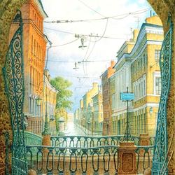 Пазл онлайн: Улочки Петербурга