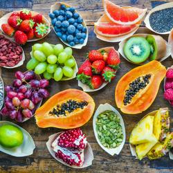 Пазл онлайн: Много фруктов