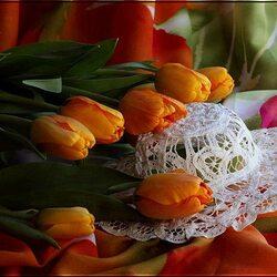 Пазл онлайн: Яркие тюльпаны