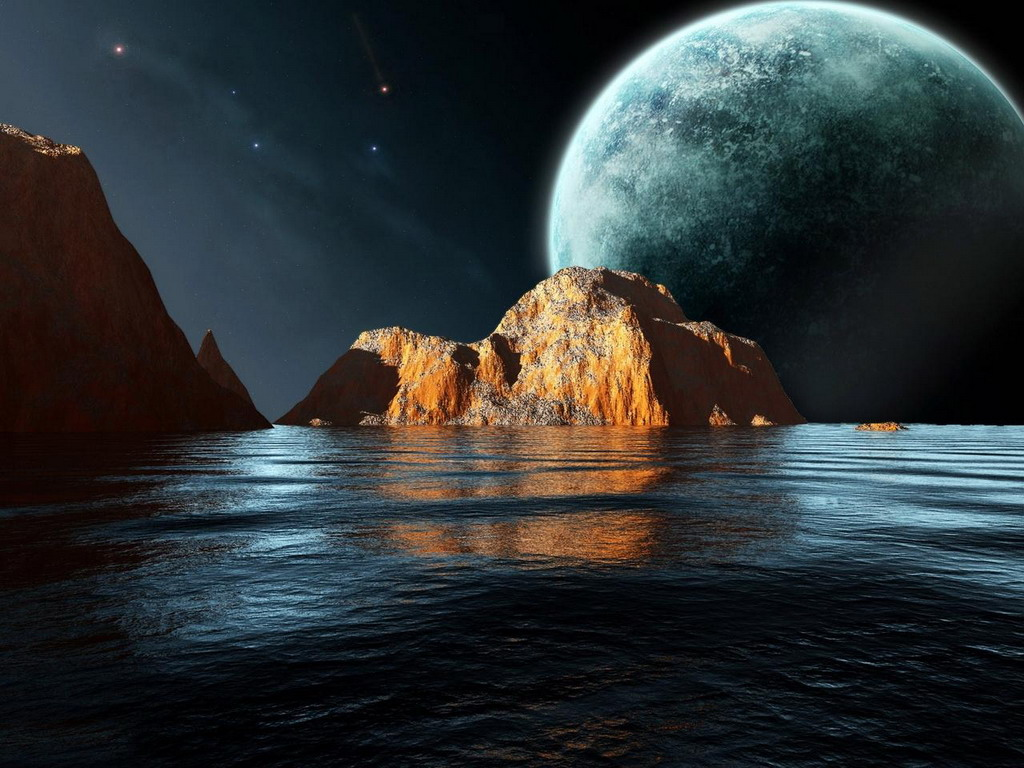 космос и море фото