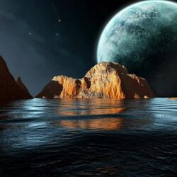Пазл онлайн: Скала в море