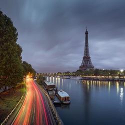 Пазл онлайн: Осеннее утро на Сене