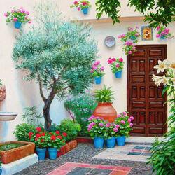 Пазл онлайн: Андалуский внутренний двор