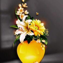 Пазл онлайн: Желтая ваза