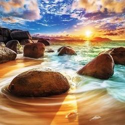 Пазл онлайн: Пляж Самудра