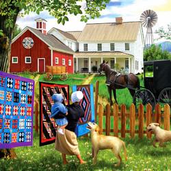 Пазл онлайн: Яркие одеяла