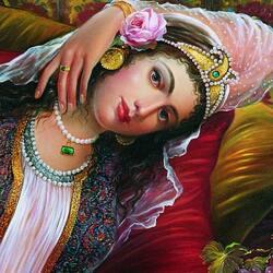 Пазл онлайн: Прекрасная персиянка