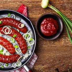 Пазл онлайн: Жареная колбаска