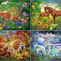 Пазл онлайн: Сезоны природы
