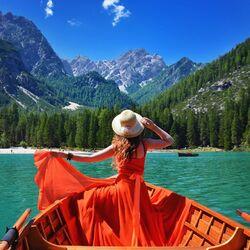 Пазл онлайн: Прогулка на лодке