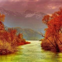 Пазл онлайн: Желтая река
