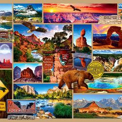 Пазл онлайн: Национальные парки США