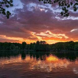 Пазл онлайн: Закат в Терлецком парке