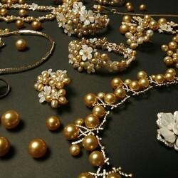 Пазл онлайн: Золотой жемчуг