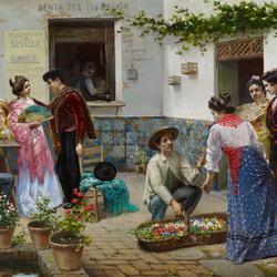 Пазл онлайн: Андалузский торговец