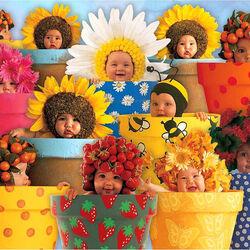 Пазл онлайн: Цветочки, ягодки и фрукты
