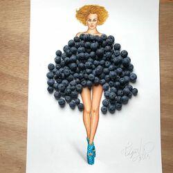 Пазл онлайн:  Черничное платье