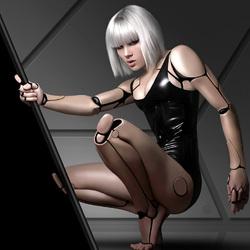 Пазл онлайн: Девушка-робот