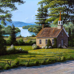 Пазл онлайн: Каменная церковь