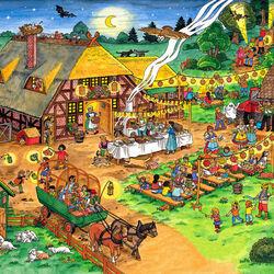 Пазл онлайн: Праздник на ферме