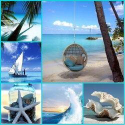 Пазл онлайн: Морской коллаж