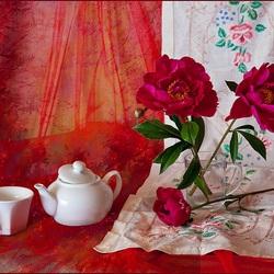 Пазл онлайн: Чай с ароматом пиона