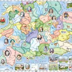 Пазл онлайн: Карта Англии и Уэльса