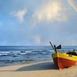 Пазл онлайн: Лодка на песке