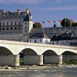 Пазл онлайн: Мост у замка Амбуаз