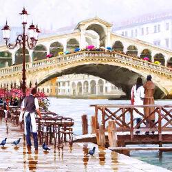 Пазл онлайн: Мост Риальто