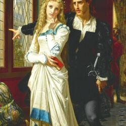 Пазл онлайн: Гамлет и Офелия