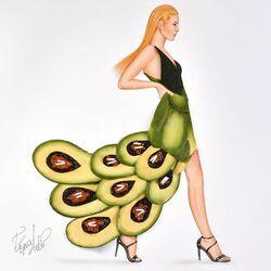 Пазл онлайн: Сделано из авокадо