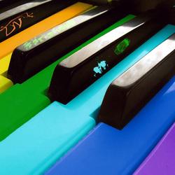 Пазл онлайн: Цветная клавиатура