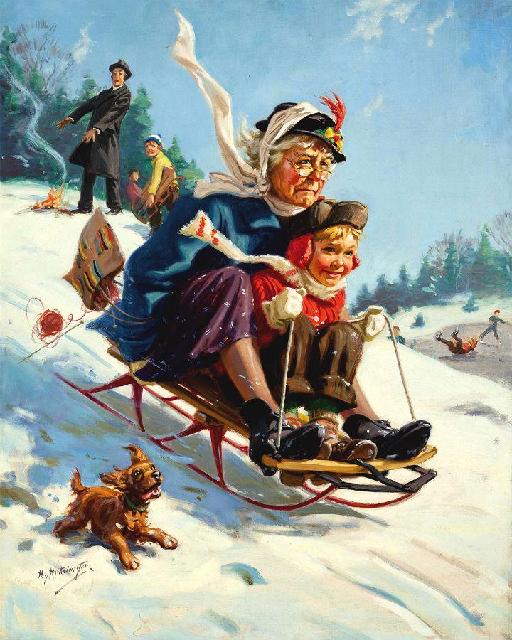 Бабушка с внуками картинки прикольные