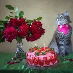 Пазл онлайн: День рождения Масяни
