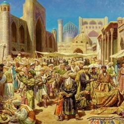 Пазл онлайн: Самаркандский базар